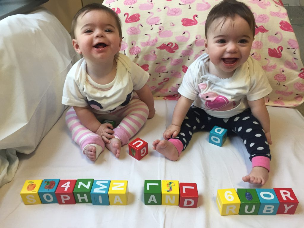 Ruby and Sophie in Hospital at time of the Diagnosis